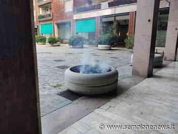 Fumo da una fioriera a Legnano: intervengono i pompieri - Sempione News