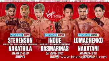 Confirmed: Ramirez vs Taylor, Stevenson vs Nakathila, Inoue vs Dasmarinas & Lomachenko vs Nakatani