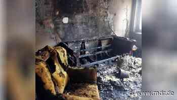 Nordhausen: Drei Kinder und zwei Erwachsene bei Brand verletzt - MDR