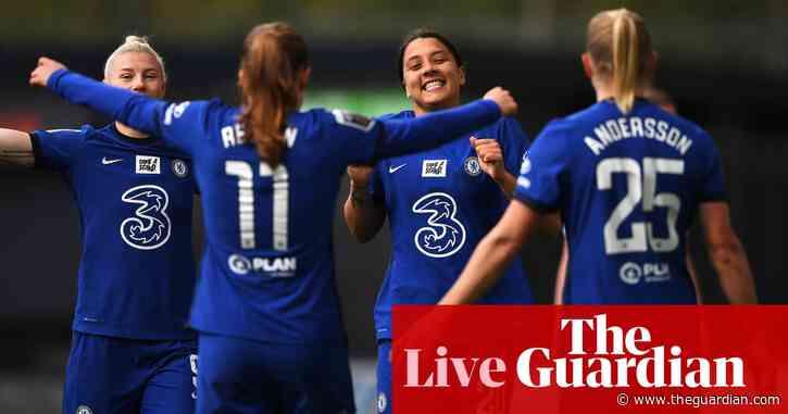 Tottenham 0-2 Chelsea: Women's Super League – as it happened