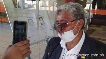 Agreden a Jose Luis Funes, la persona que lanzó un tomate a Manfred Reyes Villa - Opinión Bolivia