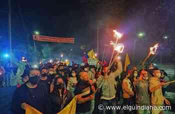 Circasia también alza su voz de protesta durante el paro Nacional - El Quindiano S.A.S.