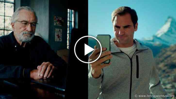 Roger Federer and Robert De Niro in a commercial for Switzerland