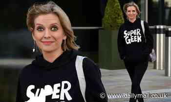 Pregnant Rachel Riley looks radiant as she covers up her baby bump in all-black ensemble