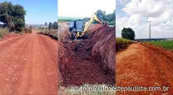 Estradas rurais recebem manutenção em Taquarituba - Jornal Sudoeste Paulista