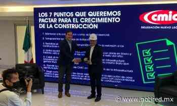 Garantiza Andrés Mijes evolucionar a General Escobedo ante empresarios de construcción - Notired Nuevo Leon