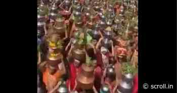 Covid-19: Hundreds of devotees in Gujarat participate in religious procession, 23 arrested - Scroll.in