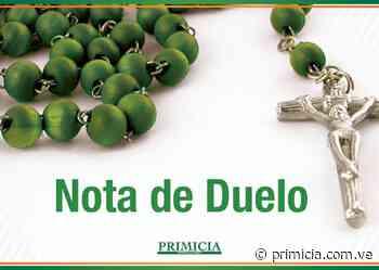 PRIMICIA lamenta fallecimiento de Nerys del Carmen Arismendi de Rondón - Diario Primicia - primicia.com.ve