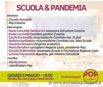"""""""Scuola e pandemia"""", incontro organizzato da POP Cassino - L'Inchiesta Quotidiano OnLine"""