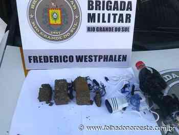 BM prende indivíduo por tráfico de drogas em Frederico Westphalen - Jornal Folha do Noroeste