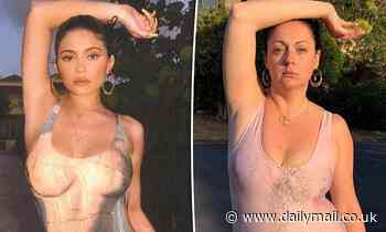 Celeste Barber takes a dig at Kylie Jenner as she parodies reality star's latest racy photo