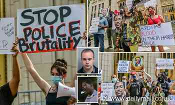 BLM protest erupts in Atlanta after police department REINSTATES officer who shot Rayshard Brooks