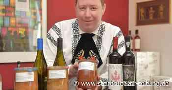 Jürgen Schnabel verkauft in Saarbrücken rumänische Weine. - Saarbrücker Zeitung