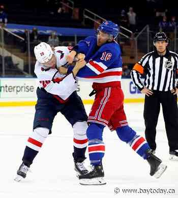 Oshie has a hat trick, Capitals beat depleted Rangers 4-2