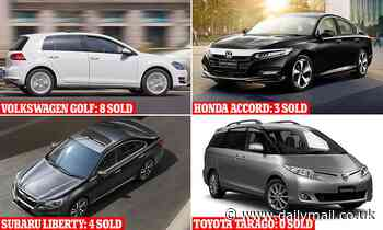 The once popular cars now managing just single digit sales from Volkswagen Golf to Honda Accord