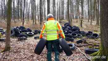 Bestwig: 400 alte Reifen im Wald bei Ostwig entsorgt - Hinweise gesucht - sauerlandkurier.de