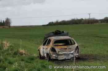 Burnt-out car spotted in field near Carberry - East Lothian Courier