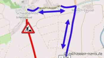 Vollsperrung der K68: Fahrbahnsanierung zwischen Alsfeld und Schwabenrod - Osthessen News