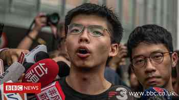 Hong Kong: Joshua Wong jailed over banned Tiananmen vigil