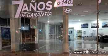 Vandalizan Cai de la Policía y establecimientos de comercio en Cereté - EL HERALDO