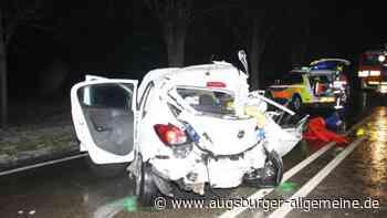 Unfall auf der B16 bei Ernsgaden mit fünf Verletzten - Augsburger Allgemeine