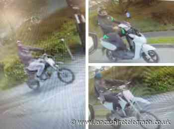 Three off-road bikers caught on CCTV driving dangerously around Blackburn Hospital