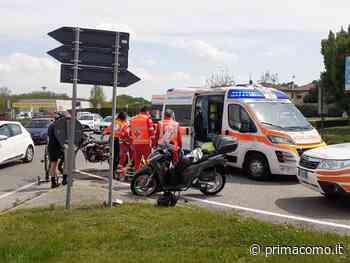 Incidente a Luisago impatto tra moto, soccorso un giovane - Prima Como