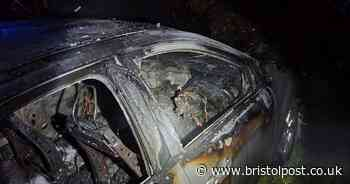 Car and caravan destroyed by fire