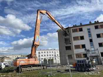 VIDEO. A Flers, Saint-Michel commence sa mutation avec la démolition d'un immeuble - actu.fr