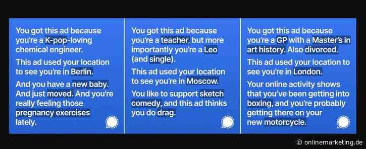 Diese Ads will dir Facebook nicht zeigen: Signal wegen zu ehrlicher Werbekampagne gesperrt?