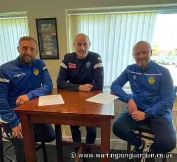 Warrington Town manager signs new contract with club