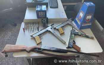 Suspeito é detido e armas são apreendidas durante operação em Aracruz - Folha Vitória