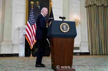 Biden news – live: President praised for backing vaccine patents waiver as he says GOP is in 'mini revolution'