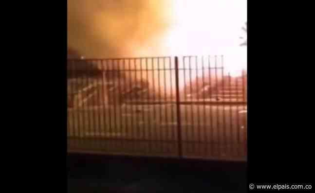 Incendian peaje de Palmira donde este miércoles finalizó movilización pacífica - El País