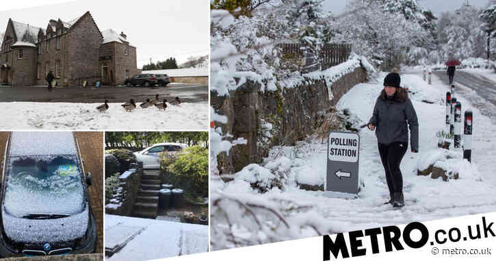 Heavy snow sweeps parts of UK after temperatures plummet to -6°C