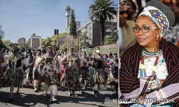 Zulu war of succession: Hundreds of warriors escort Queen Mantfombi's body through Johannesburg