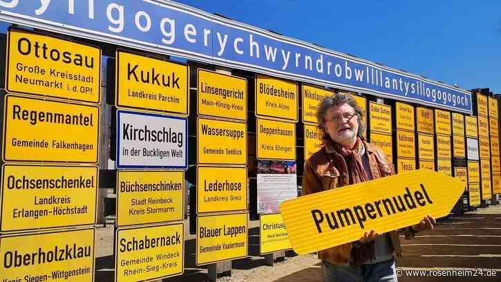 """St. Wolfganger Straßenschild """"Pumpernudel"""" bekommt im Fernweh-Park Oberkotzau Ehrenplatz"""