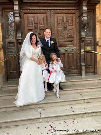 One year after wedding, Herefordshire couple get to officially marry