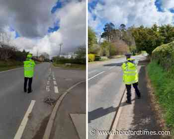 Police target speeders in the Herefordshire countryside