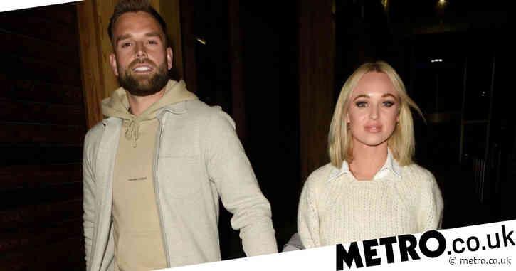 Hollyoaks' Jorgie Porter holds hands with boyfriend as she enjoys date night