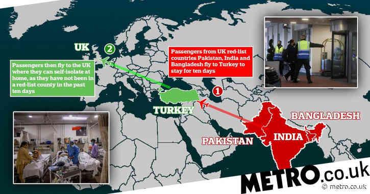 Red list passengers avoid £1,750 UK quarantine with loophole