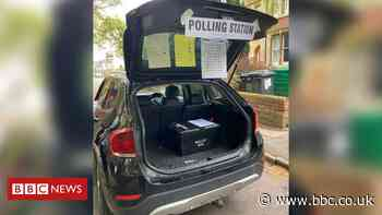 Car boot used as polling station after church warden 'overslept'