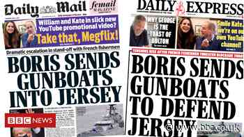 Newspaper headlines: PM 'sends gunboats to Jersey', and warning for holidaymakers