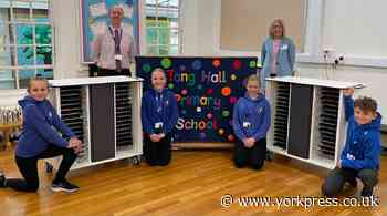 Chromebooks from trust at Tang Hall Primary School in York