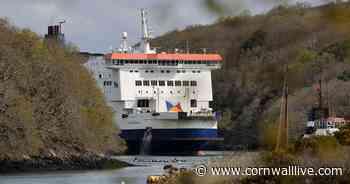 Cross-Channel ferry bids farewell to Cornish river - Cornwall Live