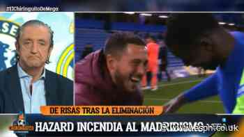 Hazard slammed by emotional TV host for laughing with Chelsea players