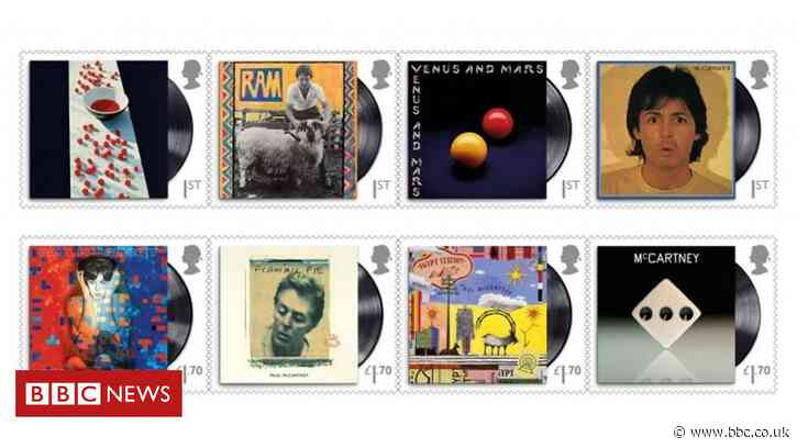 Sir Paul McCartney honoured by Royal Mail stamps - BBC News