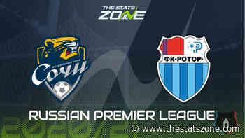 2020-21 Russian Premier League – Sochi vs Rotor Volgograd Preview & Prediction - The Stats Zone