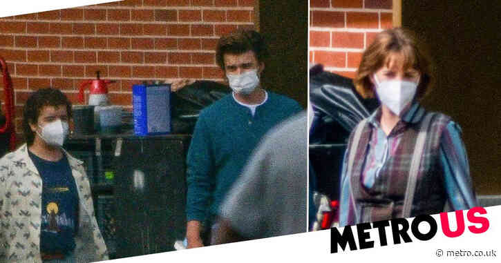 Stranger Things season 4: Maya Hawke, Joe Keery and Gaten Matarazzo pictured on set after cryptic teaser release