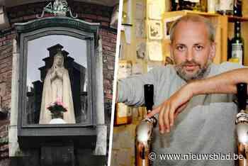 """Cafébaas Fatima herstelt Mariabeeldje in ere: """"Hopelijk zorgt ze zaterdag voor goed weer"""""""